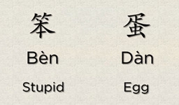 Chinese Word – How To Say Stupid