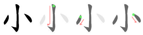 Chinese stroke order: symmetry count