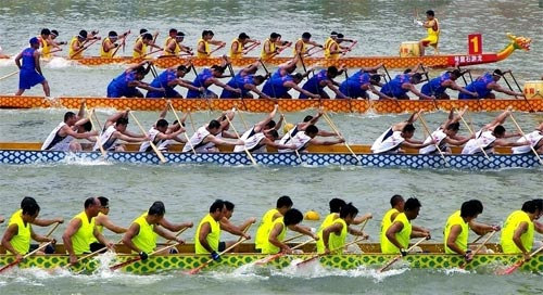 (Dragon-boat Racing赛龙舟 sài long zhōu)