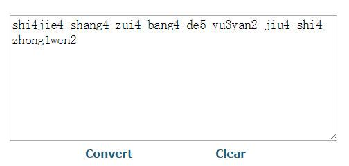 Convert Numeric Pinyin to Tone Marks