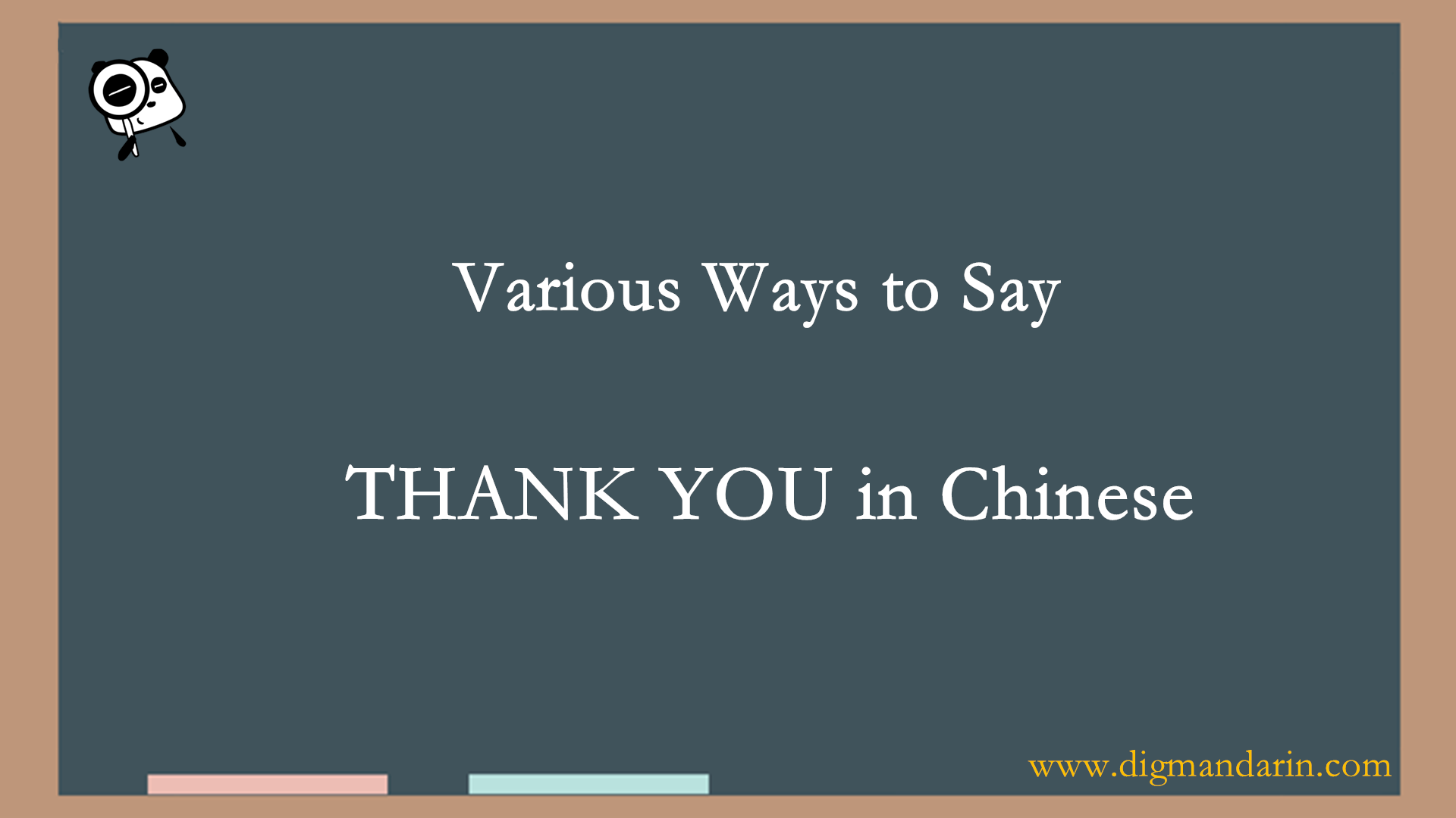 Various Ways To Say THANK YOU In Chinese