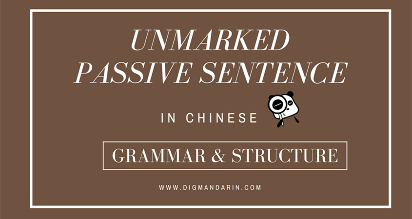 Unmarked Passive Sentence Chinese