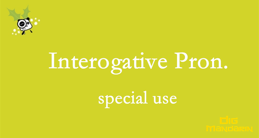 The Special Use Of The Interogative Pronouns In Chinese