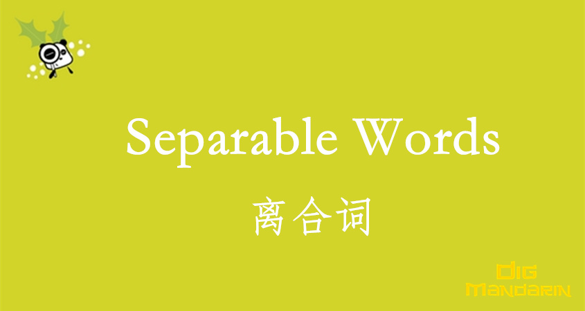 The Summary Of The Separable Words: 离合词