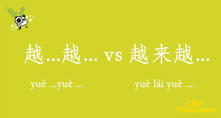 "To Express ""the More… The More"" And "" More And More "" In Chinese"